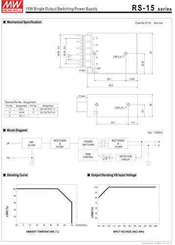 MeanWell RS-15-5 Netzteilbaustein, 15W, 5V, 3A