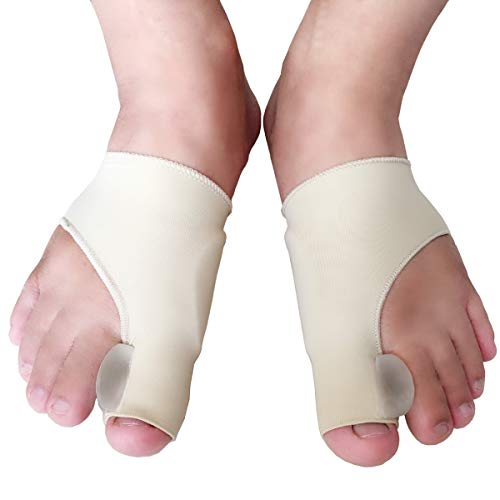 relief for bunions Elastic Bunion Corrector and Bunion Relief Sleeve with Gel Bunion Pads,Stop Bunion Pain in Hallux Valgus, Big Toe Joint Hammer Toe -Toe Separator for Bunion (2 PCS)