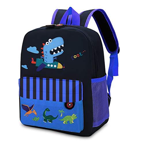 Mochila infantes Mochila Para niños , Mochilas pequeñas Mochilas escolares de dinosaurios de animales Bonita bolsa de bebé primaria Guardería Preescolar para niños de 2 a 5 años Niñas, Azul