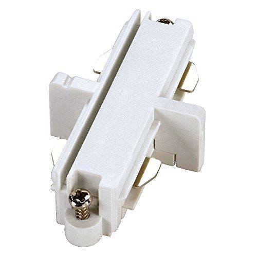SLV 143091 Längsverbinder für einphasige HV-Sammelschiene, weiß, elektrisch, Metall, weiß,
