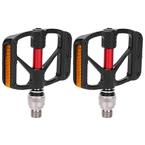 FastUU 1Pair Mountain Bike Pedals, Road Bike Self‑Locking Pedal, Lightweight Aluminum Alloy Bicycle Sealed Clipless Pedals, Replacement Bicycle Cycling Equipment