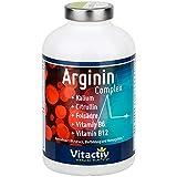 ARGININ COMPLEX, natürlicher Nährstoffkomplex, L-Arginin hochdosiert, für Durchblutung, Herz, Kreislauf und sexuelle Vitalität (180 Kapseln, Monatspack) -