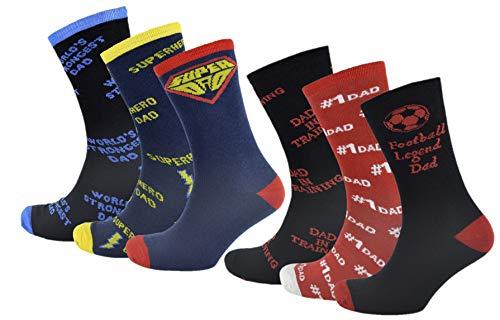 RJM 6er Pack Cotton-Rich Herren Dad Socken