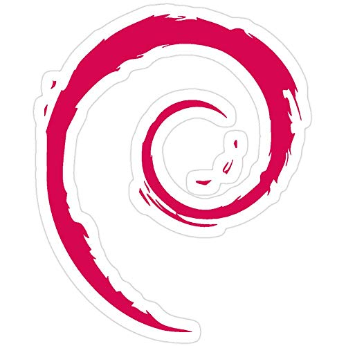 Sticker Vinyl Decal for Cars, Water Bottle, Fridge, Laptops Debian Sticker Stickers (3 Pcs/Pack)