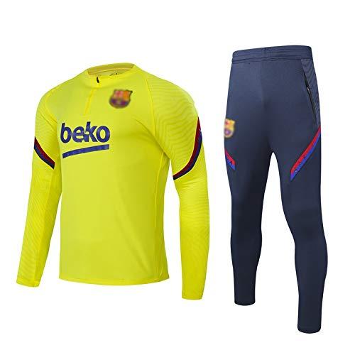 Blaugrana Ḇḁṛcḁ Fútbol oficial niños 'niños Uniforme de fútbol niños' niños de manga larga de manga larga ropa de fútbol uniforme atlético camisa superior e inferior conjunto de competencia entrenamie