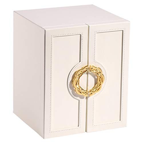 ZHKXBG Large Jewellery Box, Jewellery Box Organiser, with Individual Compartments, for Earrings, Bracelets, Necklaces,White