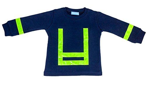 Schlafanzug Kinder Feuerwehrmann Größe 80 86 Blau Baumwolle Druck Feuerwehr Lang Gelbe Reflektoren Fairtrade Ringelsuse - 3