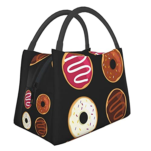 Check Out My Six Pack Funny Donut Fitness Bolsa de almuerzo duradera para el trabajo, picnic, cocina, restaurante, lonchera, reutilizable, a prueba de fugas