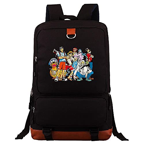 Zaino Anime ONE PIECE Borsa da viaggio per studenti di grande capacità Borsa da viaggio nera,giapponesi borse da scuola zaini casual, zaino unisex adulto