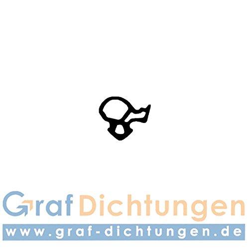 Graf Dichtungen F1094 Dichtung für Alu-oder Kunststofffenster, Schwarz
