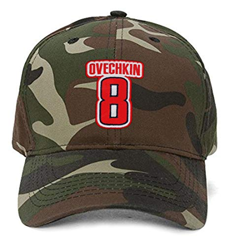 Alex Ovechkin #8 Hat - Washington - Adjustable Unisex Camo Hockey Cap