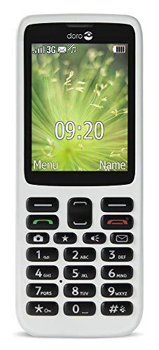 Doro 5516 - Teléfono móvil clásico desbloqueado fácil de usar para personas mayores para redes 3G (blanco)