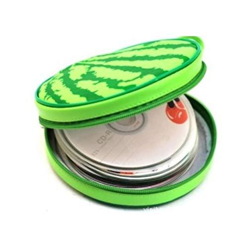 24 Grids Disc Storage Geldbörsen Runde Cute Design Wassermelone Form CD Aufbewahrungskoffer Tasche Portable CD Organizer
