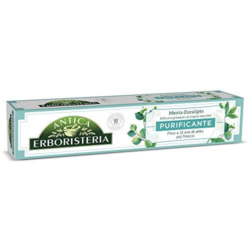 Antica Erboristeria, Dentifricio Purificante per Alito Fresco con Ingredienti Naturali, Gusto Menta e Eucalipto, 1 x 75 ml