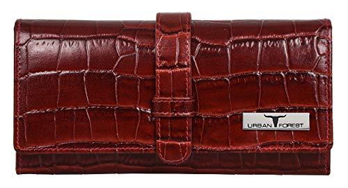 Urban Forest Danny Dark Red RFID Blocking Leather Wallet for Women