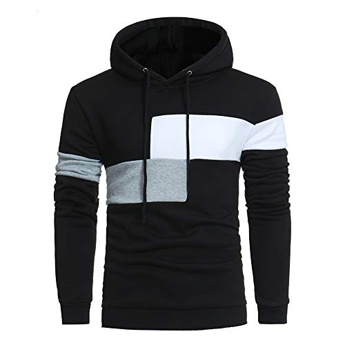 Camiseta de manga larga con capucha para hombre de primavera y otoño casual para correr caliente y cómodo