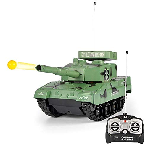 RC BB Panzer Tank, Tanque De Batalla Militar De Control Remoto De Radio para Juguetes De Niño, Que Dispara Balas De Airsoft