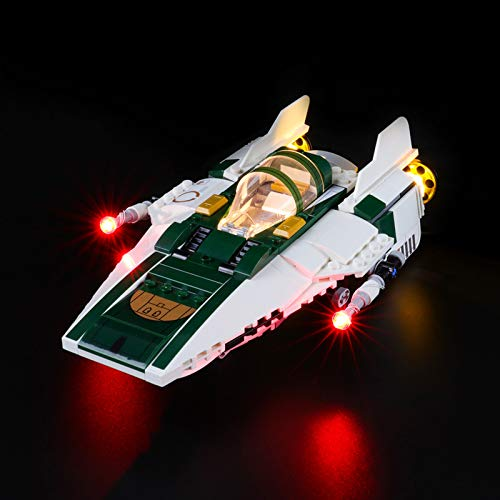 Nlne Kit De Iluminación Led para Resistance A-Wing Starfighter,Compatible con Ladrillos De Construcción Lego Modelo 75248 (NO Incluido En El Modelo)