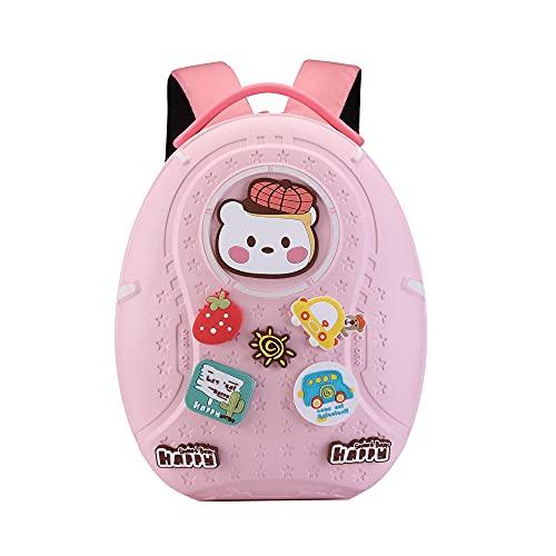 YUNTAB Sac à dos pour enfants, cartable pour enfants avec boucles de dessin animé bricolage, sac à dos imperméable et facile à nettoyer, cartable pour enfants de plus de 3 ans, garçons et filles