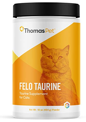 Thomas Pet Felo Taurine - Taurine Supplement for Cats - Taurine for Cats - Supports Heart, Vision, Digestion, & Immune Health - 16 oz (454 g) Powder