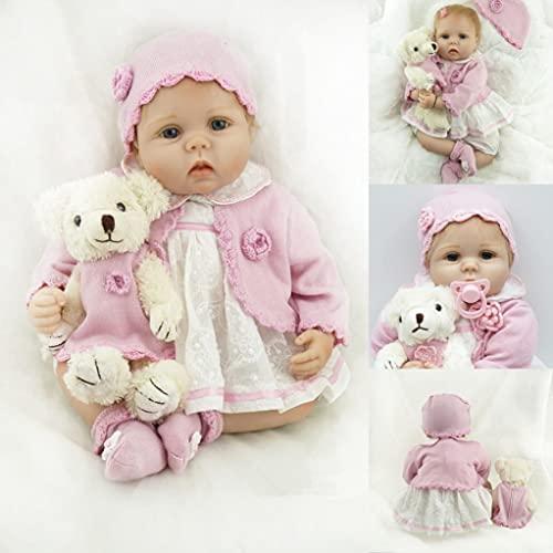 ZIYIUI Realista Muñecas Reborn 55 cm 22 Pulgadas Bebe Reborn Niña Vinilo de Silicona Suave Recién Nacido Reborn Dolls Regalo de Juguete
