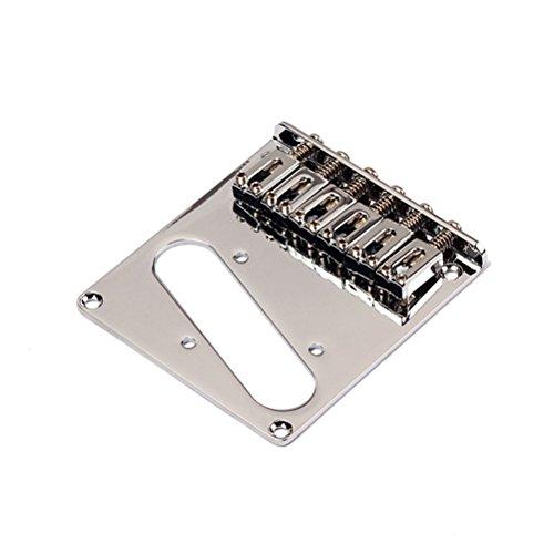 ROSENICE Gitarre Bridge Chrom Gotoh moderne Telecaster Electric Sattel Brücke für Fender Tele ersetzen