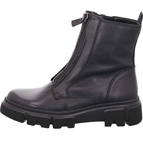 Gabor Damen Stiefeletten, Frauen Biker Boots,Best Fitting,Reißverschluss,Optifit- Wechselfußbett, uebergangsschuhe Freizeit,schwarz,40 EU / 6.5 UK