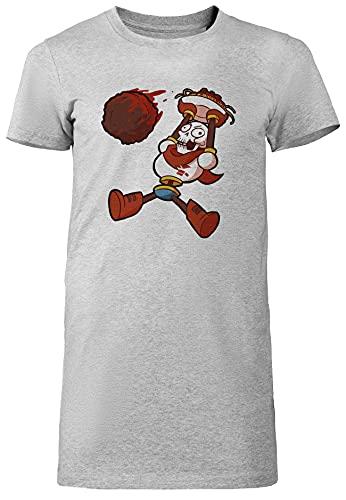 Sans Papyrus Camiseta para Mujer Vestido Largo Gris De Manga Corta Ligera Informal con Cuello Redondo Women's Tshirt Grey