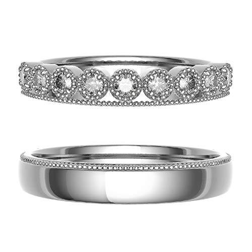 [ココカル]cococaru ペアリング 結婚指輪 プラチナ Pt900 2本セット マリッジリング 日本製 (レディースサイズ1号 メンズサイズ10号)