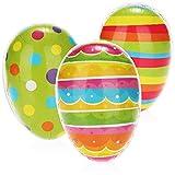 com-four® 3X Uovo di Pasqua da riempire - Uova Colorate da riempire per Pasqua - Uova di Pasqua con Molti Modelli di Colore da Regalare [la Selezione Varia] (03 Pezzi - colorato - 3 Modelli)