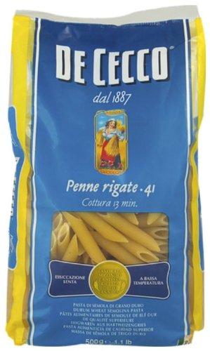 De Cecco Penne Rigate (500g) - Packung mit 6