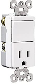 Legrand TM8118ICC TradeMaster 15A120//125V Decorator Two Single Switches and One Single Outlet in Ivory