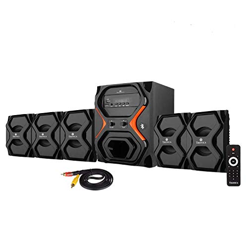 Tronica Republic Series 5.1 Bluetooth Home Audio Speaker with FM/AUX/USB/SD CARD Support...