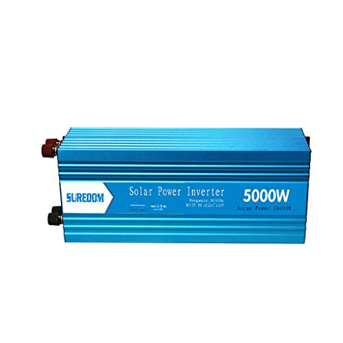 5000 Watt Wechselrichter, 12 V zu 220 V Auto LKW Spannungswandler Solar photovoltaik Hause wechselrichter, für jedes Fahrzeug, für Auto, Camping, Reise-Blau