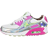 Nike Air Max 90 LX Women's Shoe (White/Laser Fuchsia/Black/Illusion Green)