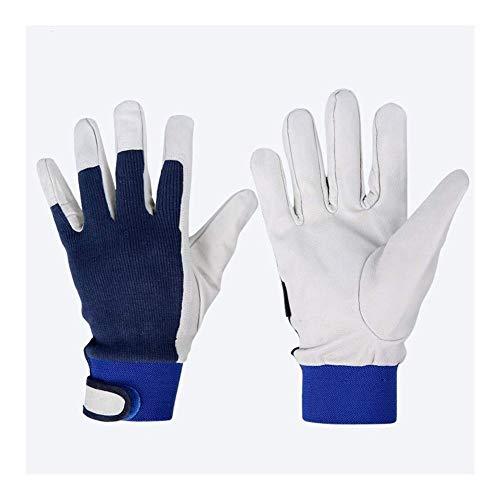WSJF Lassen Handschoenen Precisie Arc Geitenhuid Lederen Lassen Handschoenen Met Kevlar Voering, Lassen Handschoenen, 10 Inch, 2 paar