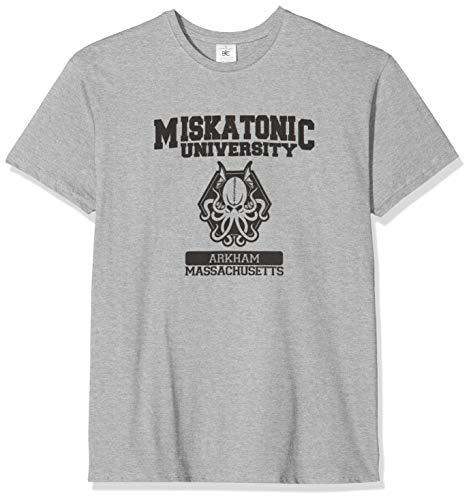 Texlab Herren Miskatonic University T-shirt, Grau Meliert, M