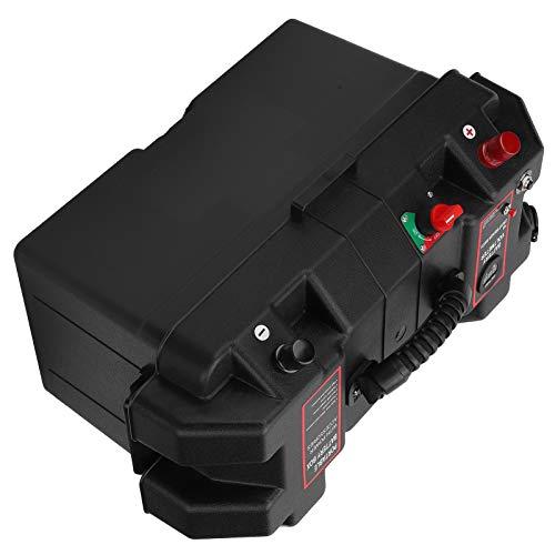 Tapa de la caja de batería, caja de batería de PP con enchufes USB para servicio de electricista para carga al aire libre