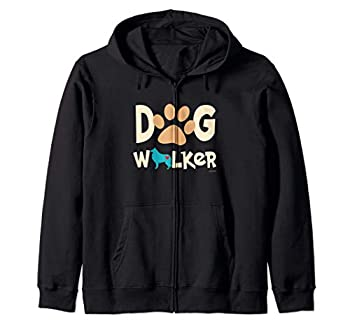 Dog Walker Dog and Paw Print With Heart Sweat à Capuche