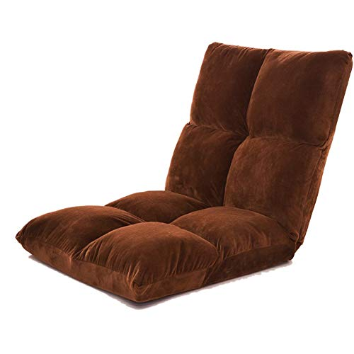 GOUO@ Chaise d'allaitement Pliante Chaise d'allaitement Japonaise Lazy Couch Single Tatami Mini Dortoir Balcon Lit Lecture Dossier Inclinable - 55 * 107cm