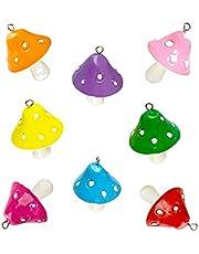 24 قطعة من توبلاير على شكل عيش الغراب الساحرة الملونة من الراتنج لصنع المجوهرات DIY