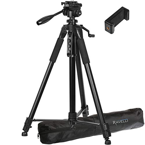 Ravelli APLT6 72' Light Weight Aluminum Tripod with Bag Includes Universal Smartphone Mount