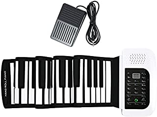 Hand-rolled Electronic Piano 61-key 88-key Portable Folding Keyboard Thickened Professional MIDI Digital Piano Pad (Color ...