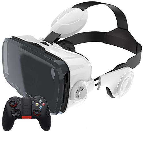 N / A Cuffie VR 3D per Realtà virtuale, Gamepad con TV immersiva a 360 Gradi, Film e Videogiochi - Occhiali VR compatibili con telefoni Android iOS