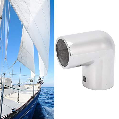 BOTEGRA Tubo de riel de Barra de Barco, Tubo de riel de Mano de Barco de 90 Grados para Pesca de Torneo para Accesorios de Barcos Marinos(25MM)