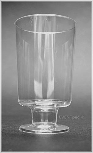EVENTpac 48 Einweg Weingläser 150ml glasklar einteilig mit Füllstrich Weinbecher/Exklusives Angebot der Marke