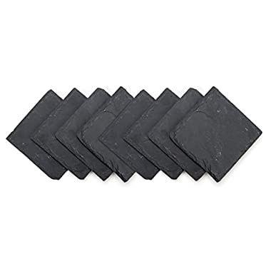 Trademark Innovations Slate Drink Coasters - Set of 8 - 4  x 4