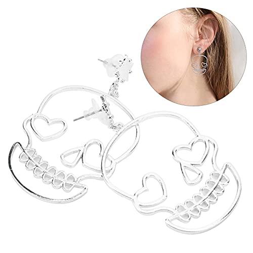 Pendientes decorativos, pendientes Decoraciones para las orejas para fiestas navideñas Fiestas de baile Conciertos(Silver)