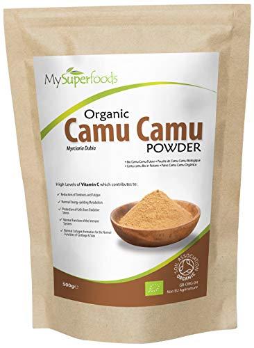 MySuperfoods Camu Camu Orgánico en Polvo 500g, Fuente de vitamina C de Alimentos Integrales Naturales