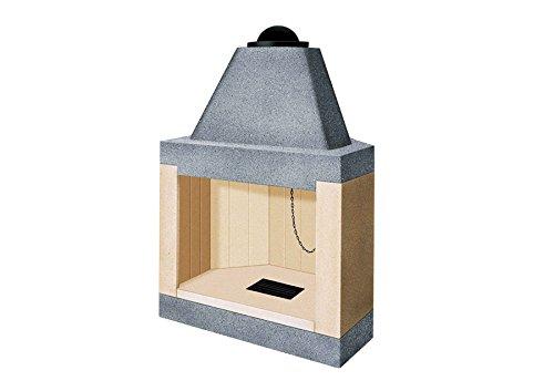 Caminetto camino refrattario cucina cibi legna angolo e parete mc 50 VZ80M